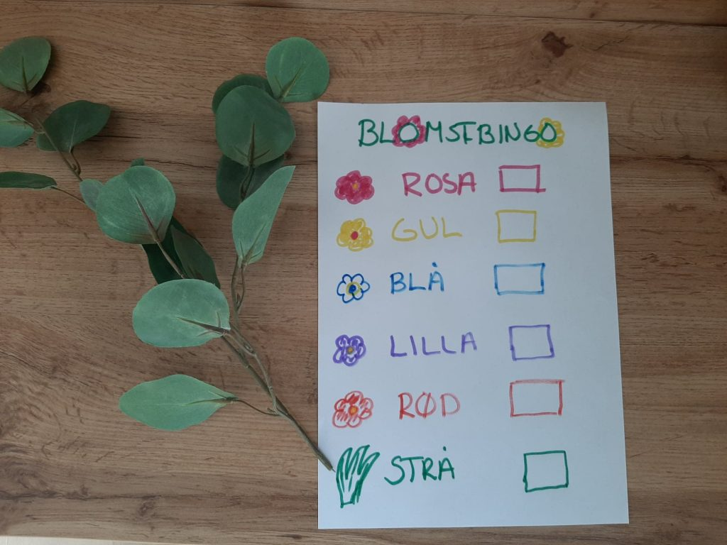 Blomsterbingo. Foto: What´s up - app